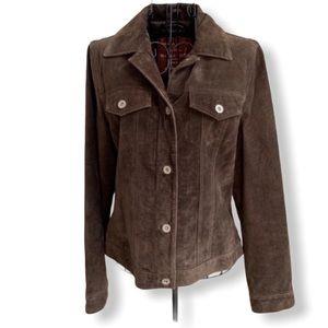 Eddie Bauer Seattle Suede Leather Jacket Size S